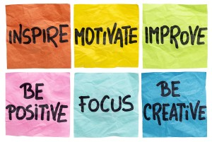 What Tracy does: inspire, motivate, improve, be positive, focus, be creative - a