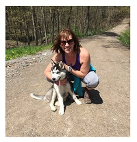 Tracy Irwin and Nala, Siberian Huskey